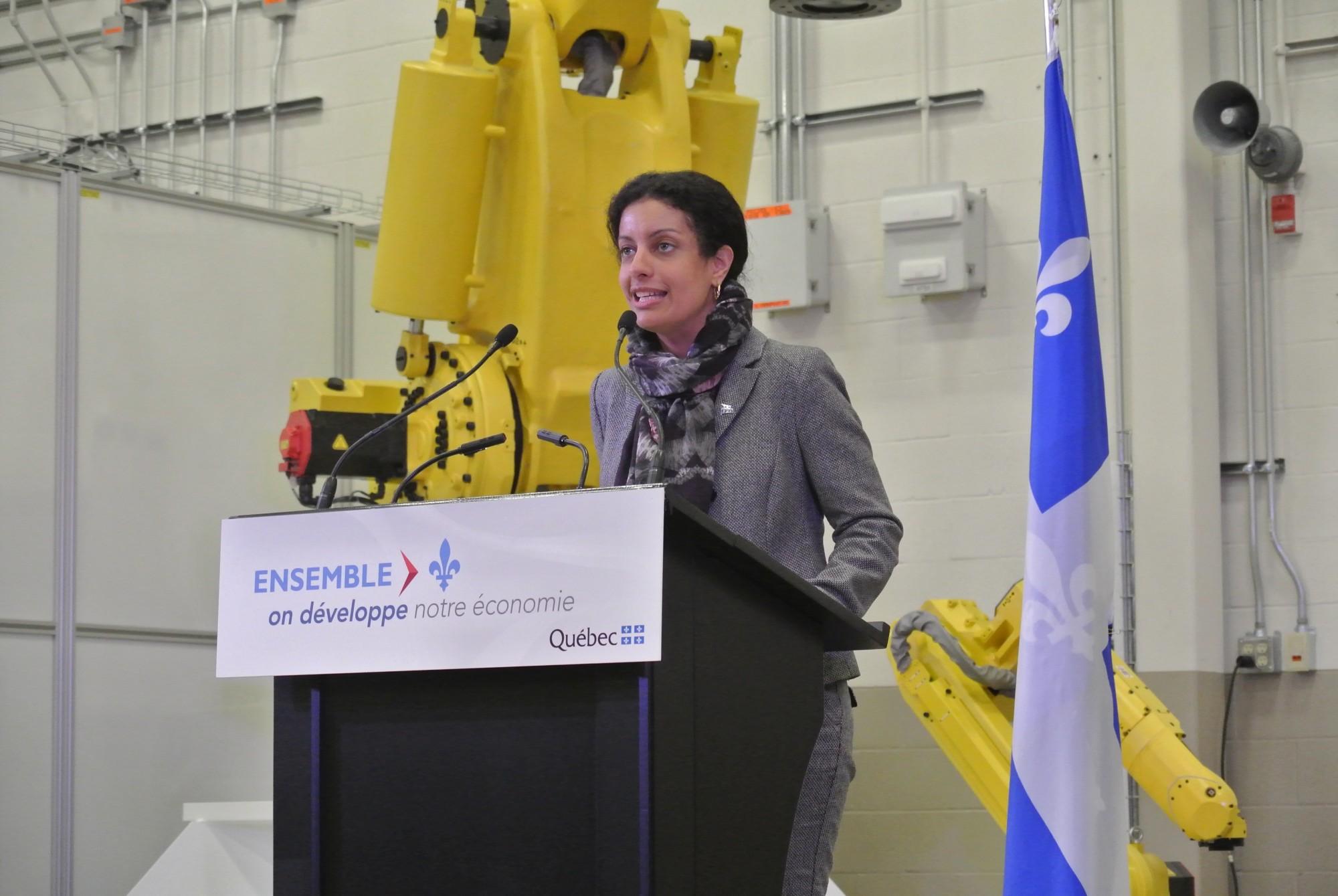 Dominique Anglade, ministre de l'Économie, de la Science et de l'Innovation et ministre responsable de la Stratégie numérique